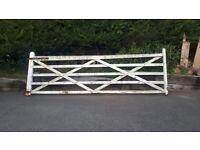 12ft wooden garden gate