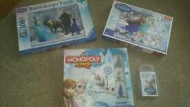 Frozen Game & Puzzle Set Inc Monopoly 2 x Puzzles and Top Trumps