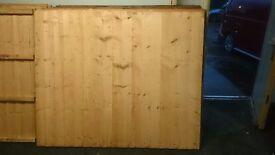 6x5 treated vertilap featheredge heavy duty panel