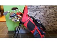 Kids golf bag and clubs