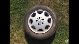 Mercedes W124 8 hole alloy wheels