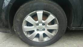 "Set of 15"" 4x vauxhall alloys with tyres"