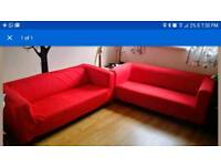 2 Ikea sofas with removable covers