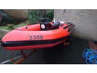 4.2 RIB boat(Solid hull) + Trailer £800 ONO