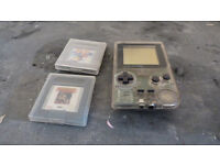 Gameboy Pocket Clear with 2 games