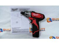 Milwaukee 2401-20 M12 v Single Speed Sub Compact Screwdriver Tool Only