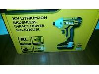 Impact driver 20v JCB 1 battery & carry case Brand New in box