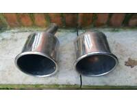 """Twin 6"""" stainless exhaust tips"""