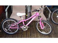 Girls Specialized 20inch pink bike