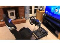 PS4 / PC Logitech G29 Steering Wheel, GT Omega Stand and R9 Racing Seat bundle