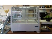 Refrigerated Tabletop Drink Food Sandwich Cake Sweet Display Fridge Chiller
