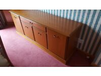 Sideboard, Corner Display Unit and Nest of Tables