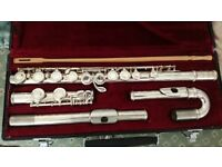 Jupiter flute with additional curved head for a beginner in good condition