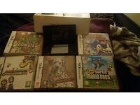 nintendo ds in box with games
