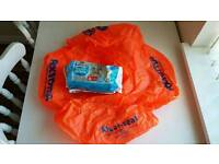 Baby swim seat with nappies 12-18m