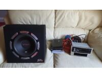 Car audio stereo with single din fascia for vauxhall corsa 2006 > make me an offer read description.