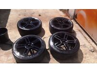 fiat grande punto/stilo 17 inch alloy wheels lightly refurbed and painted black