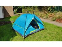 Automatic tent with air bed, sleeping bag