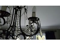 Pair of 5 light Chandaliers
