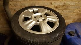 "Renault complete wheels - tyres + alloys 4x100 16"" 195x45x16 (3 winter - 1 usual)"