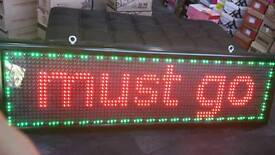 LED SHOP SIGN very large different effects seven colors!