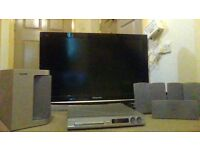 Panasonic 32'' TV with phillips surround sound system and dvd player