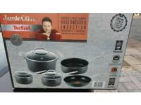 BRAND NEW Jamie Oliver By Tefal Professional Series, Hard Anodised, 8 Piece Set DELIVERED