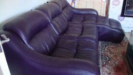 DFS Leather Sofa Set