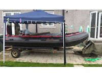 Avon typhoon inflatable boat..£1400