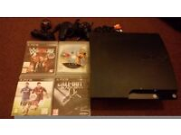 Ps3 console 120 gb with 4 games