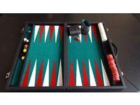 Luxury backgammon board in executive case