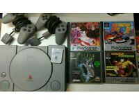 PS1 PlatStation One Console 2 pads Tekken 3 Destruction Derby 2