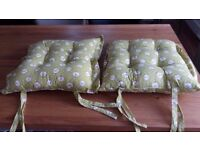 GARDEN CHAIR CUSHIONS WITH TIES [PAIR]