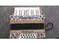 Vintage Francesco Modello bass/button accordion with original case