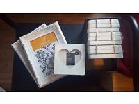 Job lot frames, 4 x triple heart and 2 x square ornate