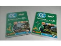 ACSI CAMPING CARD AND BOOKS / MAPS