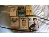 6 books as pictured £3