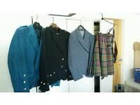 Quality Mac Donald of Clan Ranald Kilt and 3 jackets