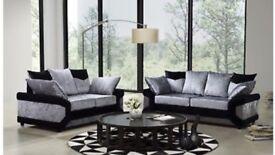 Brand new crushed velvet sofas 3+2