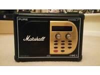 Marshall Limited Edition Pure Evoke-1XT DAB Radio by Planet Rock