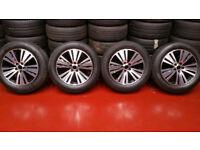 Kia,Honda Mazda,Toyota,Nissan,Suzuki, Genuine 18 alloy wheels + 4 x tyres 225 60 18 HANKOOK Winter