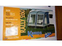 KAMPA Rally 260 - Lagoon Blue porch awning