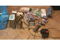 Hornby train set with lots of airfix buildings and accessories