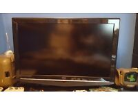 "Bush 32"" HD Ready TV with One For All Freeview aerial."