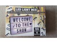 LED light box - 96 letters & symbols