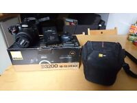 Nikon D3200 w/ original box, case and battery