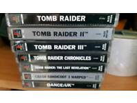 Tombraider set and crash warped all ps1 with console complete