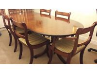 Classic Dining table & Chairs with matching sideboard