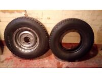landrover steel rim and goodyear tyres