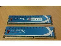 8GB HyperX DDR3-1600 (2×4GB)